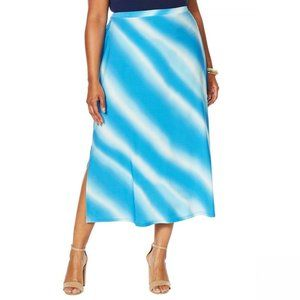 NWT Antthony Tie Dye A-Line Skirt 3X Turquoise